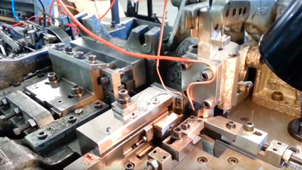 Fourslide manufactured stampings video link